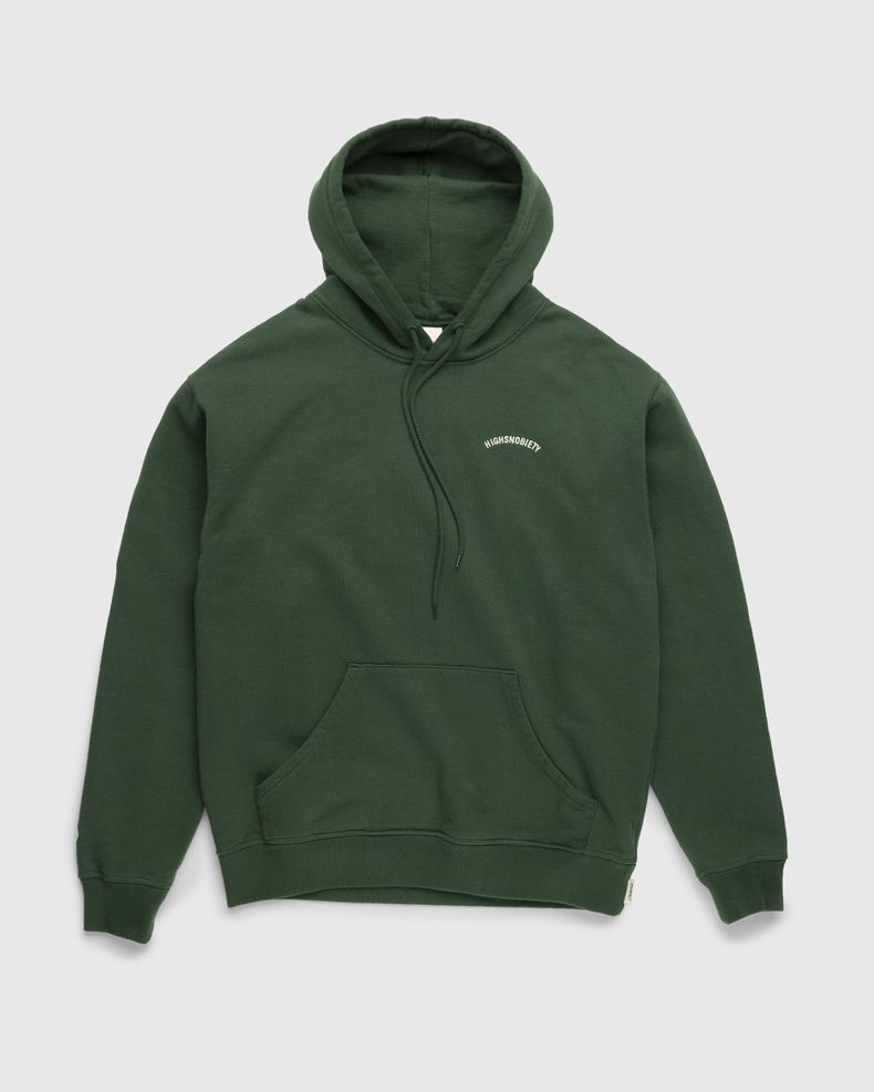 Highsnobiety – Classic Logo Fleece Hoodie Campus Green