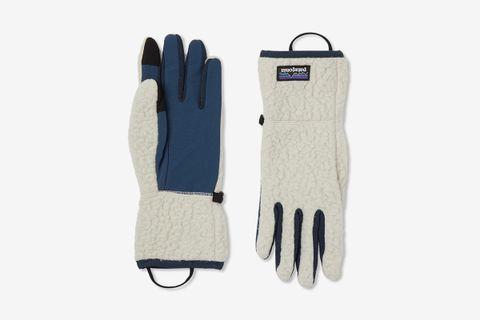 Retro Pile Nylon-Panelled Polartec Fleece Gloves