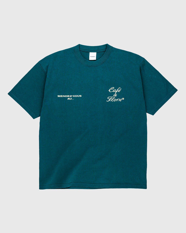 Highsnobiety — Not In Paris 3 x Café De Flore T-Shirt Green - Image 1
