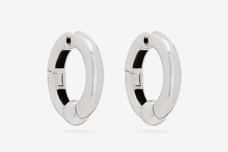 Bar-Bell Sterling-Silver Earrings