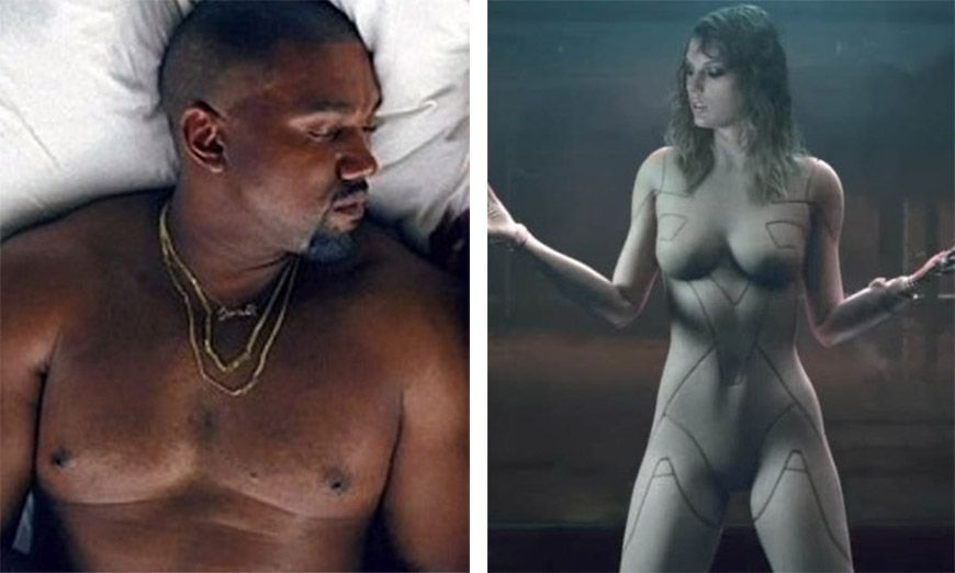 Taylor Is Furious With Kanye's Celebrity Orgy Music Photo Featuring Her