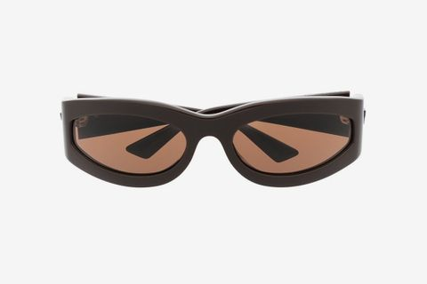 Oval-Frame Tinted Sunglasses