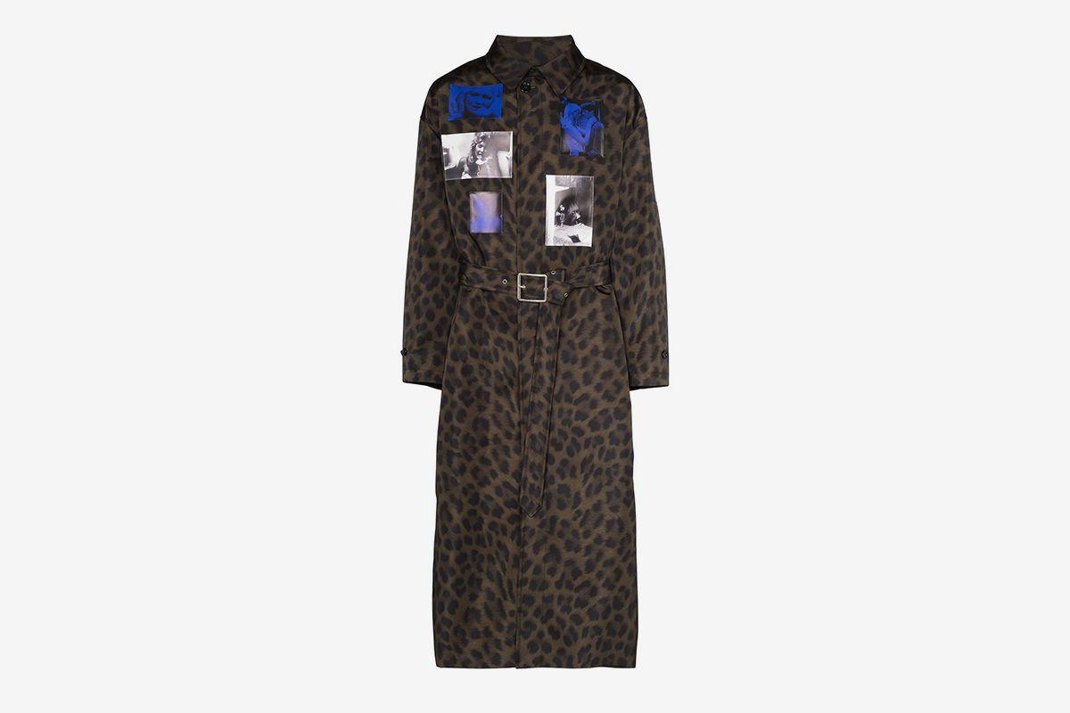 Leopard Print Photo Coat