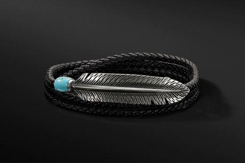 Southwest Feather Wrap Bracelet
