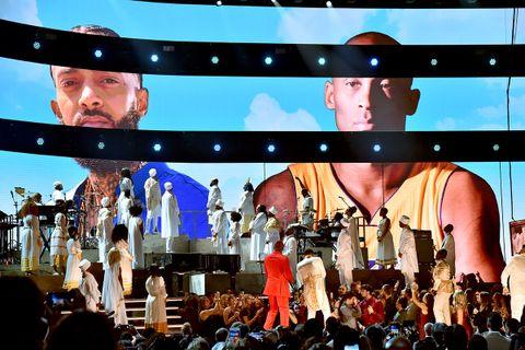 Nipsey Hussle and Kobe Bryant tribute at the Grammy Awards