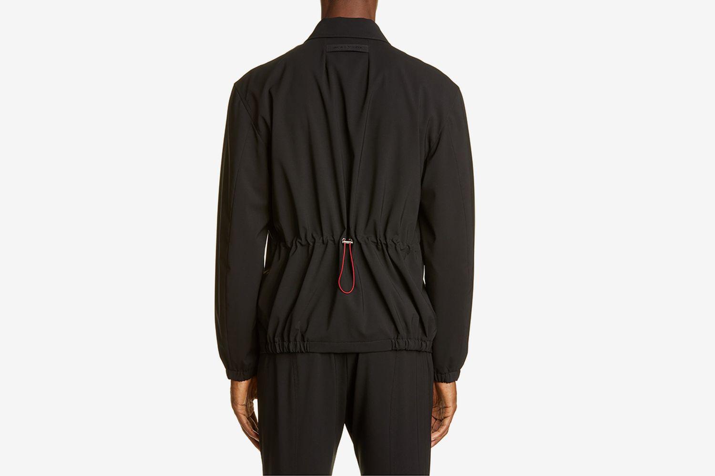 Wool Blend Flannel Jacket