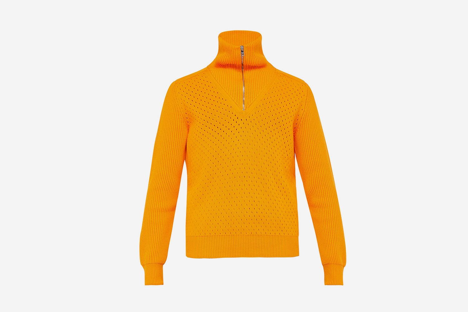Half-Zip Cotton Sweater