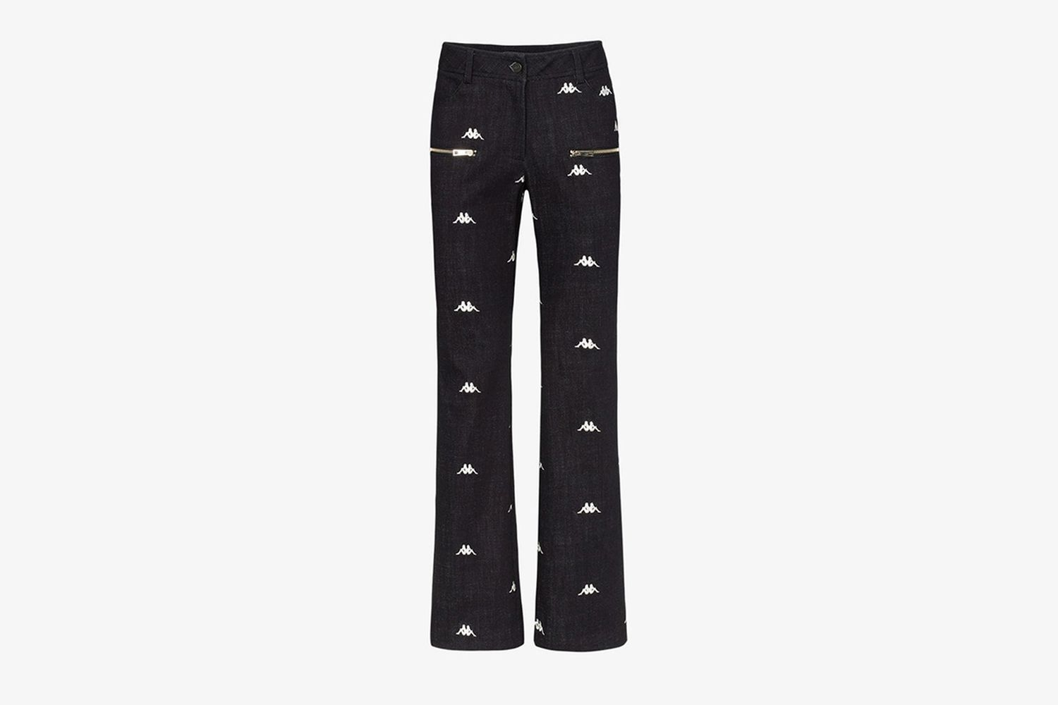Logo Embroidered Straight Leg Jeans