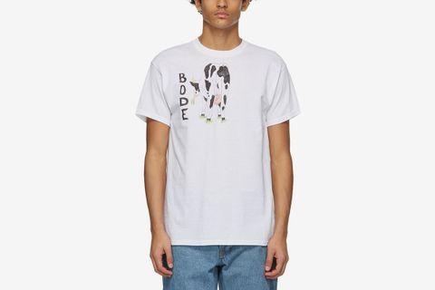 Hand-Drawn Cows Tail T-Shirt