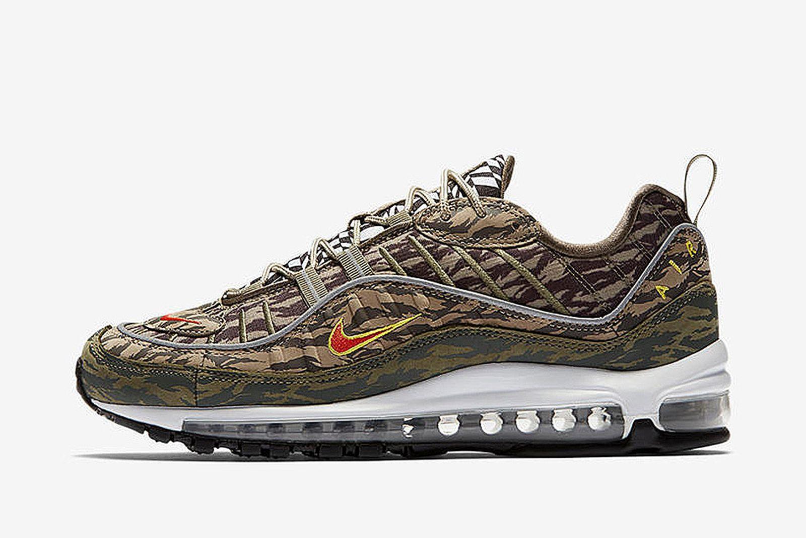 Aumentar Reclamación Respeto a ti mismo  Nike Air Max 98 Tiger Camo: Release Date, Price & More Info