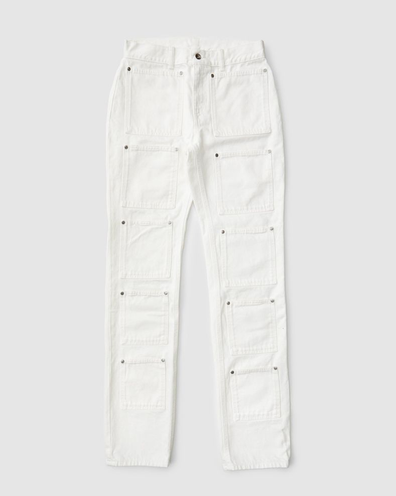 Lourdes NYC - Multi-pocket Denim - White