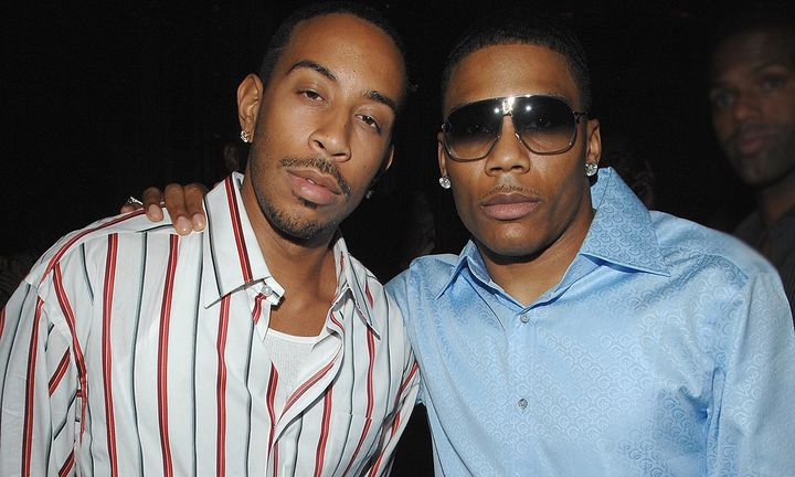Ludacris and Nelly attend the party for Usher's New Fragrances