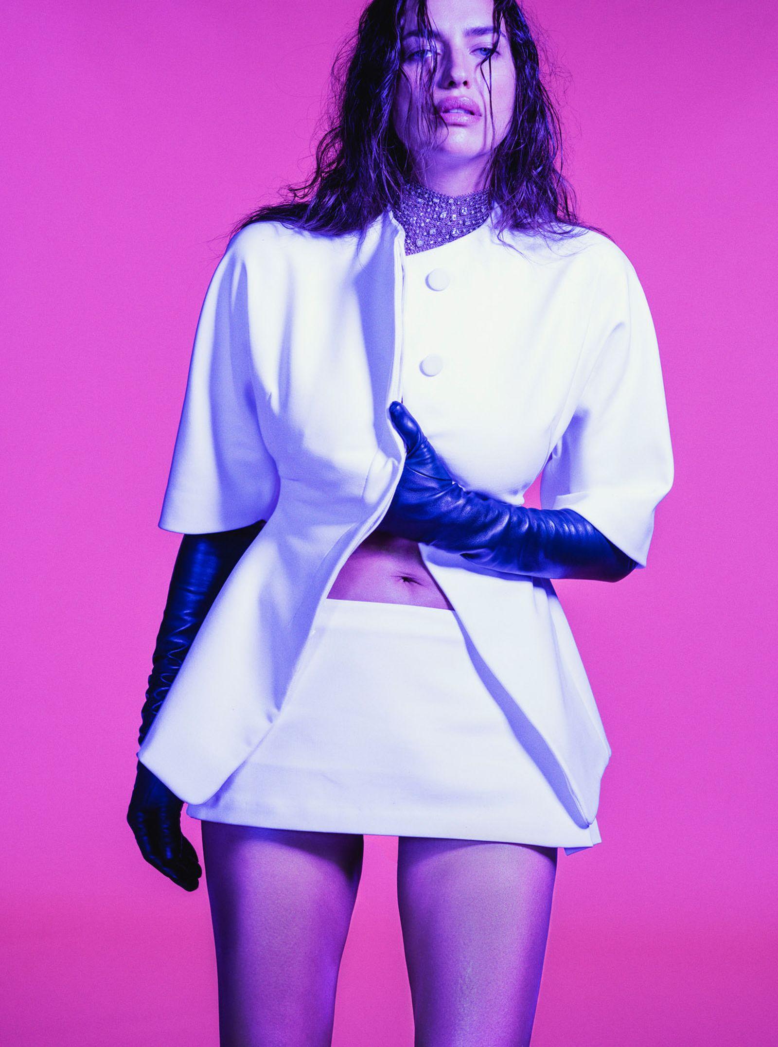 Jacket and Skirt MAXIMILLIAN Gloves PAULA ROWAN Necklace JACOB & CO