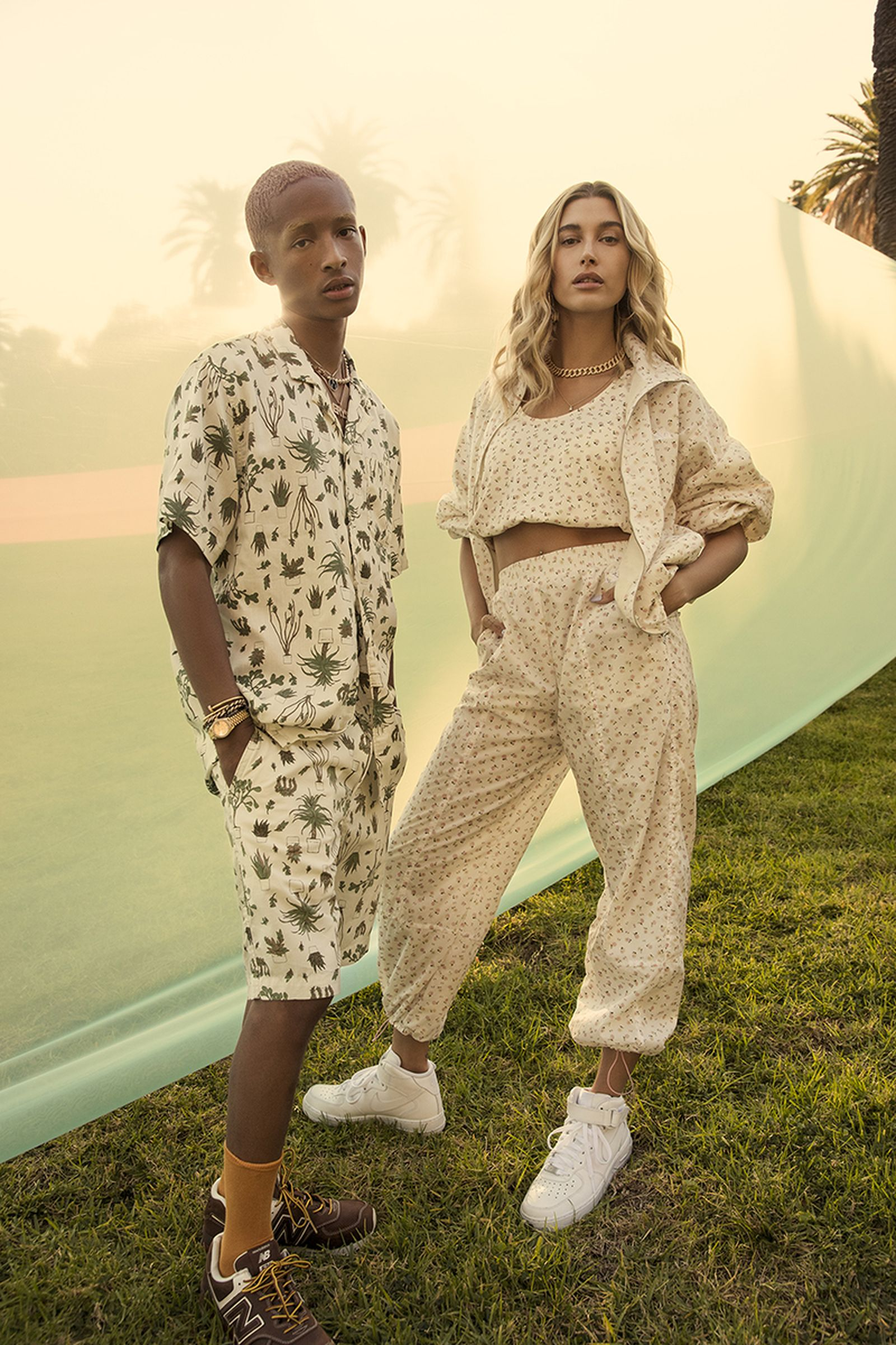 Jaden Smith and Hailey Bieber Levi's campaign