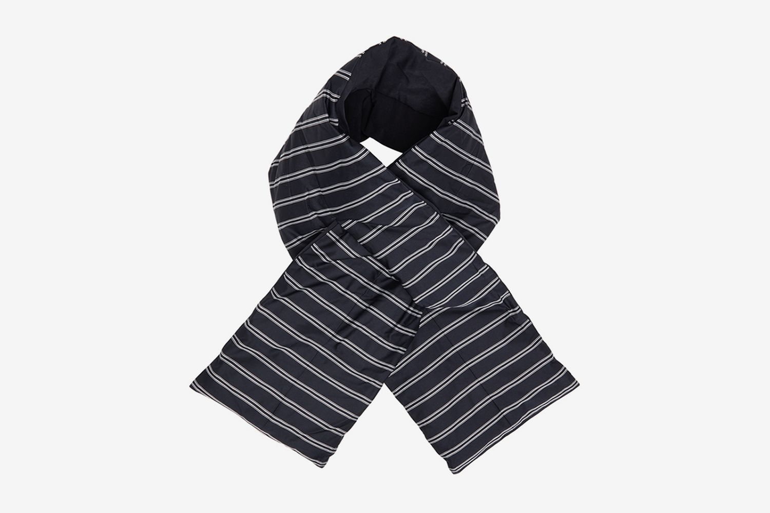Down Striped Muffler Scarf
