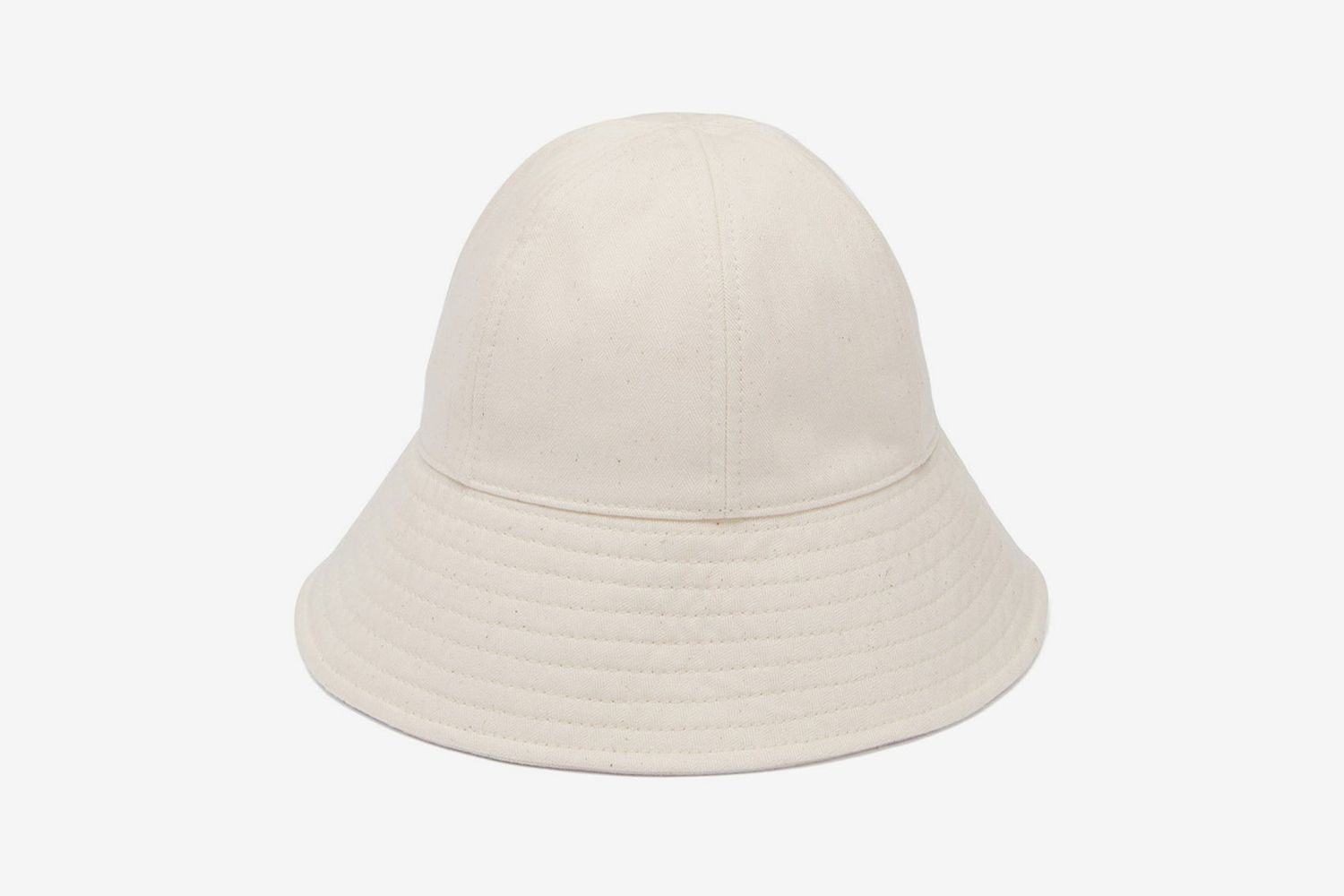 Cotton-Herringbone Bucket Hat