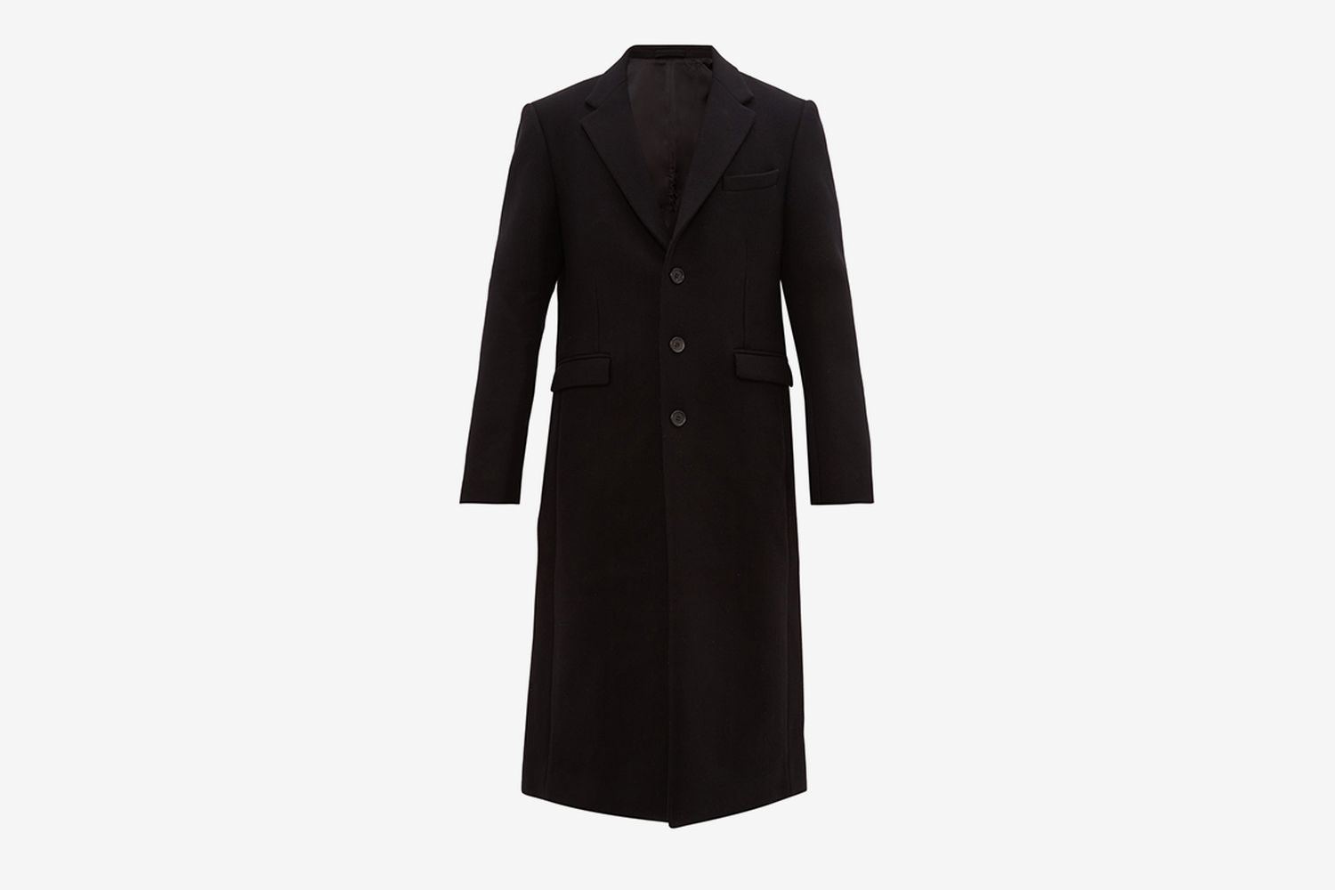 Single Breasted Felted Wool Coat