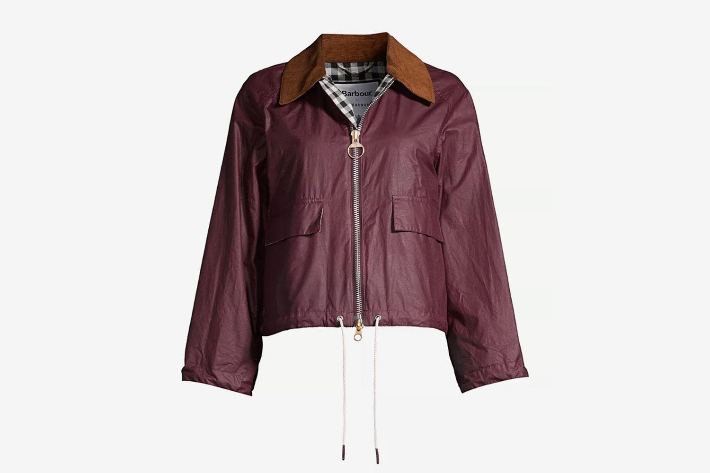 Margot Waxed Cotton Cropped Jacket