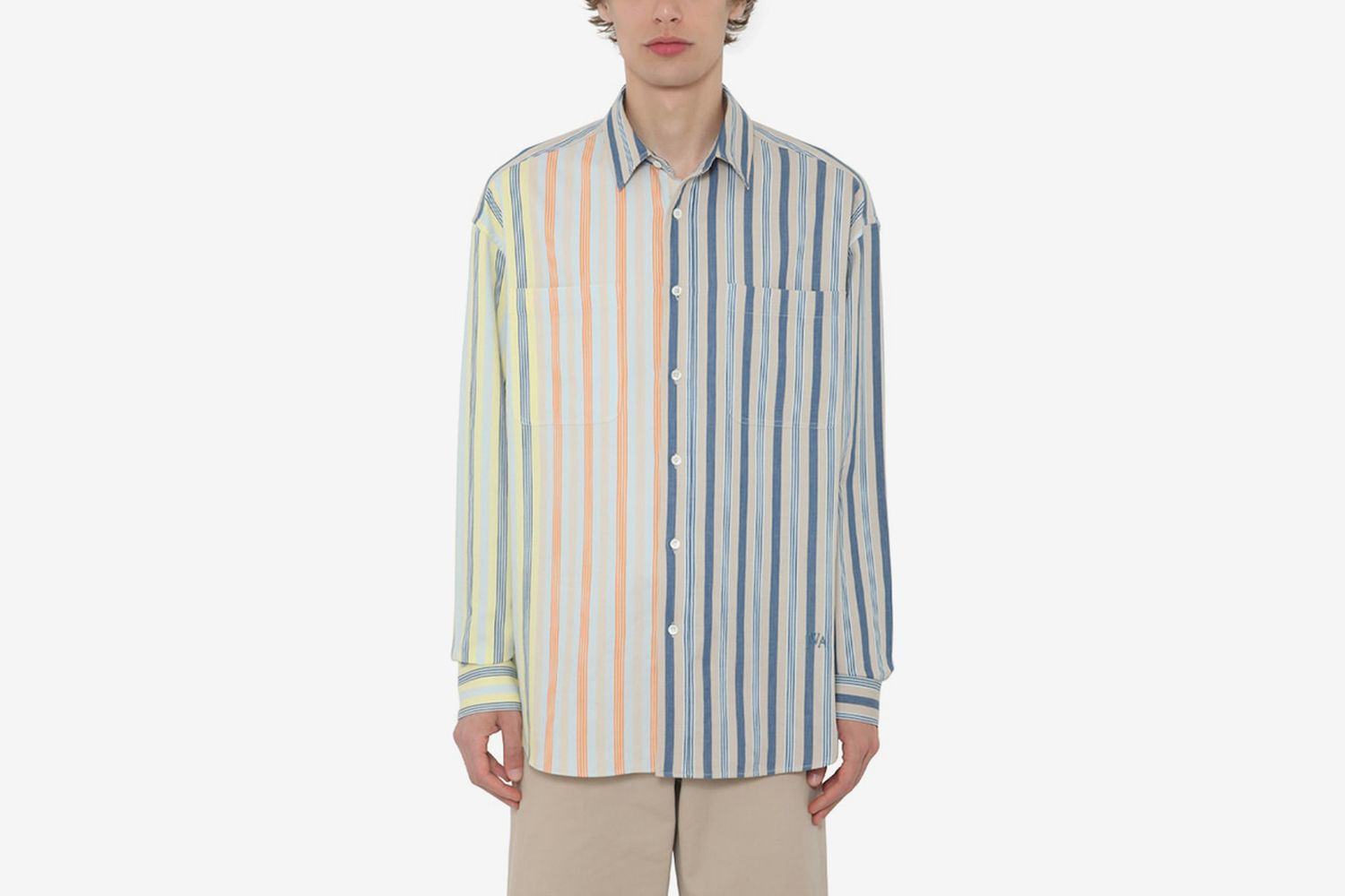Oversize Striped Linen Shirt