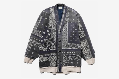 Fleecy Knit Bandana BIVOUAC Cardigan