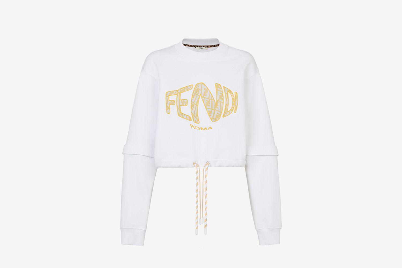 White Jersey Sweatshirt
