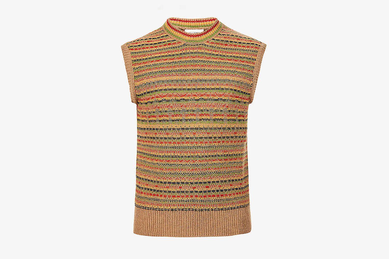 Jamaica Fair Isle Crew-Neck Wool Vest