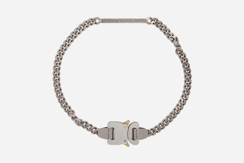 Silver Buckle ID Necklace