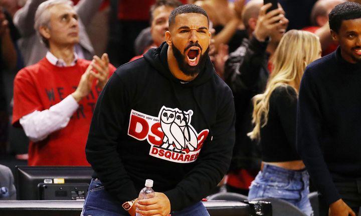 Drake hoodie Toronto Raptors game