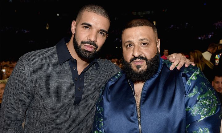 Dj Khaled and Drake posing together