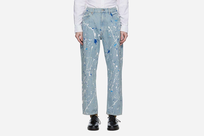 Paint Splatter Jeans