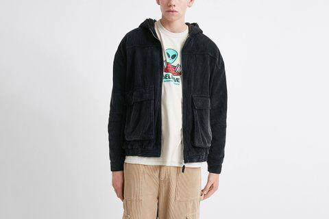 Corduroy Hooded Jacket