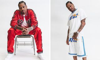 54cf53013adcb Style. Allen Iverson Models KITH and Mitchell   Ness  Sportswear Capsule.  May 22