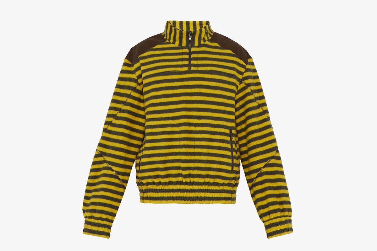 Trekking Striped Fleece Sweatshirt