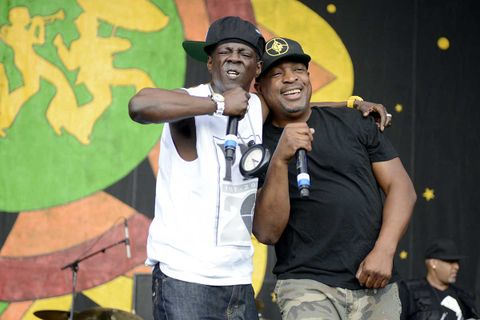 Public Enemy performing at the New Orleans Jazz & Heritage Festival