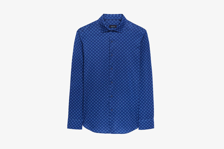 Floral Dot Printed Long SleeveOoohCotton® Performance Shirt