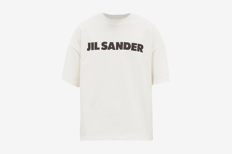 T-shirt en jersey de coton à imprimé logo