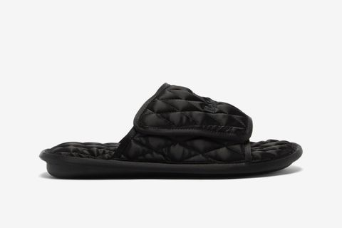 Logo-Embroidered Quilted Satin Slides