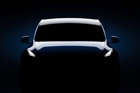 find hidden message teslas model y teaser Elon Musk Tesla Model Y