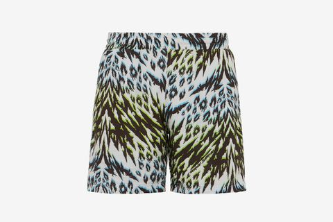 Animal-Print Jersey Shorts