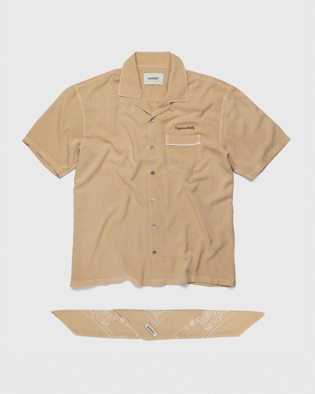Highsnobiety – Bowling Shirt Beige - Image 1