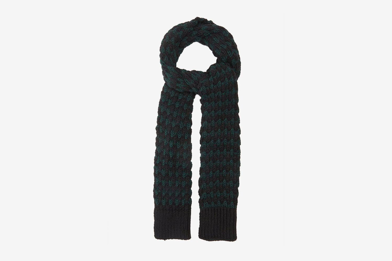 Jacquard-Knitted Alpaca-Blend Scarf