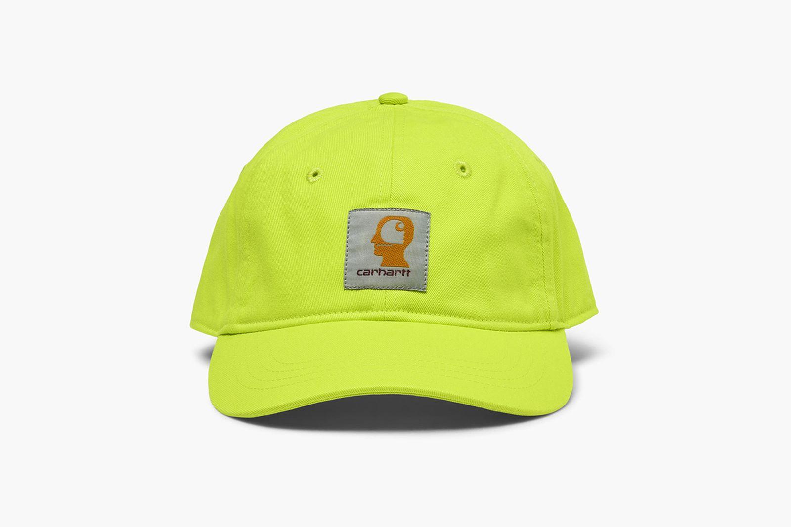 braindead x carhartt logo cap lime green brain dead carhartt wip