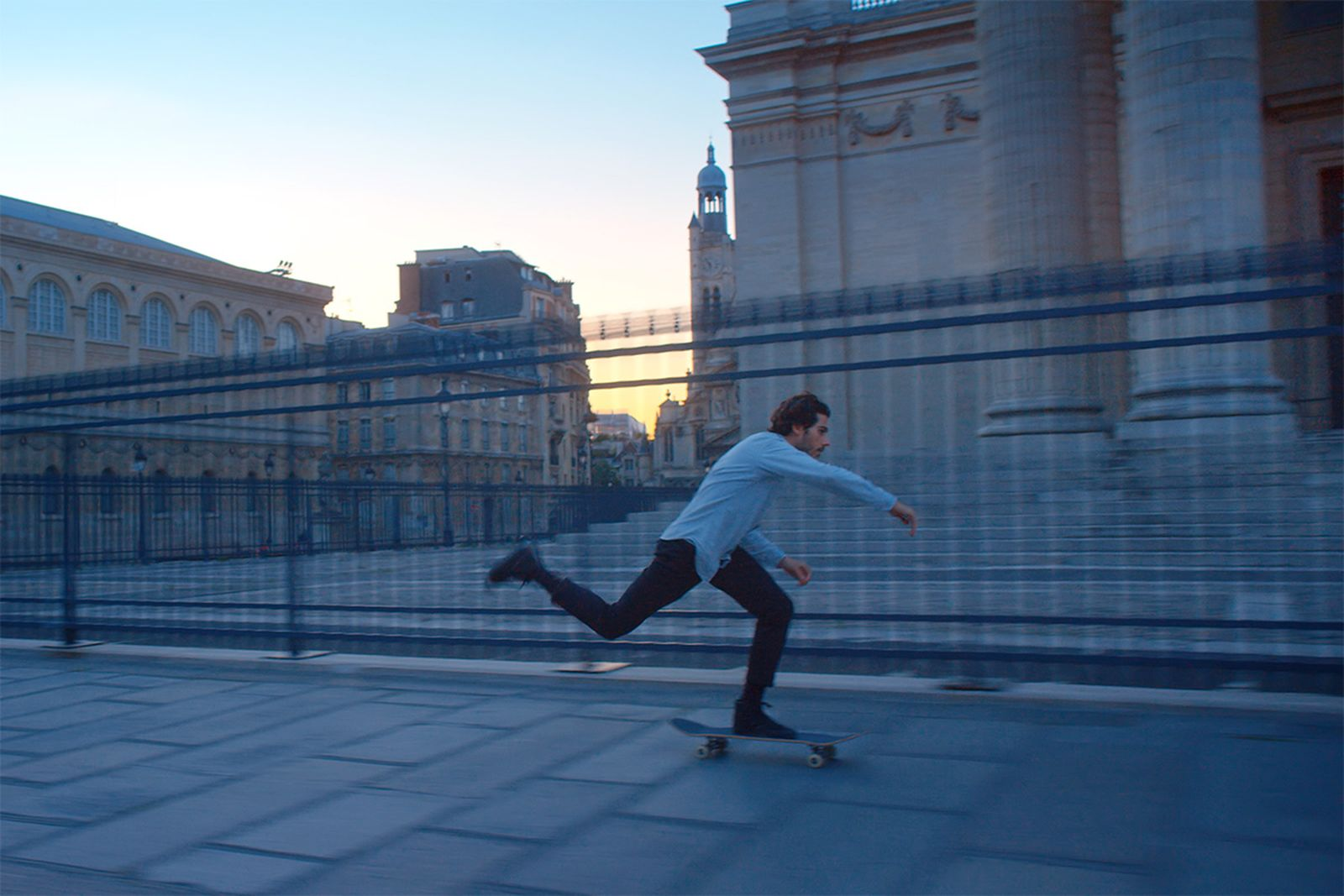 skateboarding the Louvre