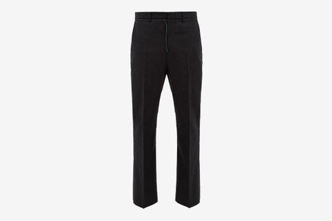 Jupiter Shoestring-Waist Flared Wool Trousers