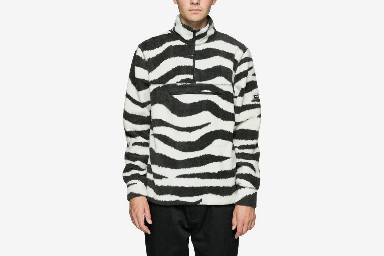 Polar Fleece Mock Neck Sweater