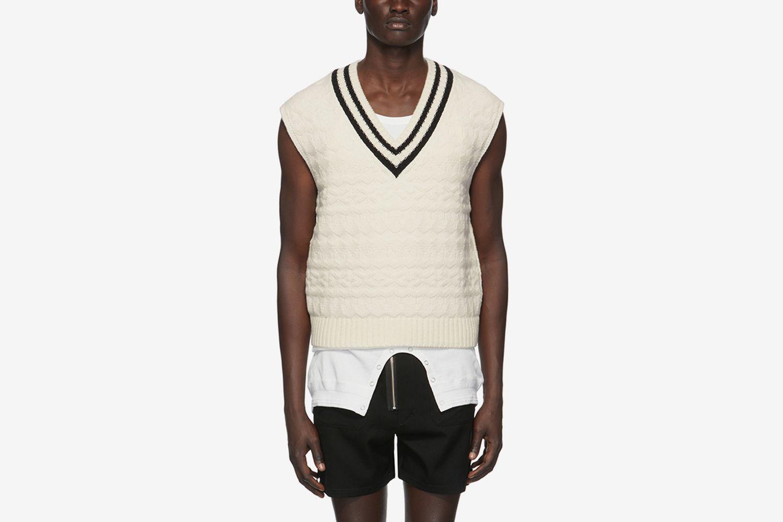 Wool V-Neck Vest
