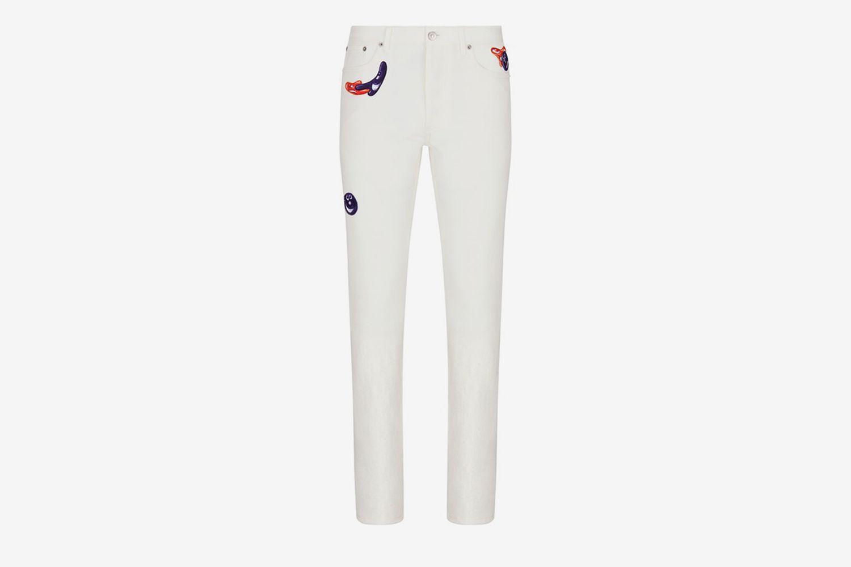 Kenny Scharf Slim-Fit Jeans