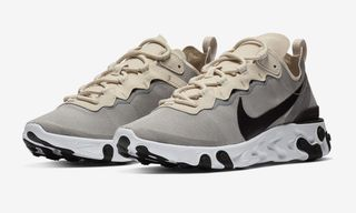 The Nike React Element 55 in Light Gray/Black Dropping Soon