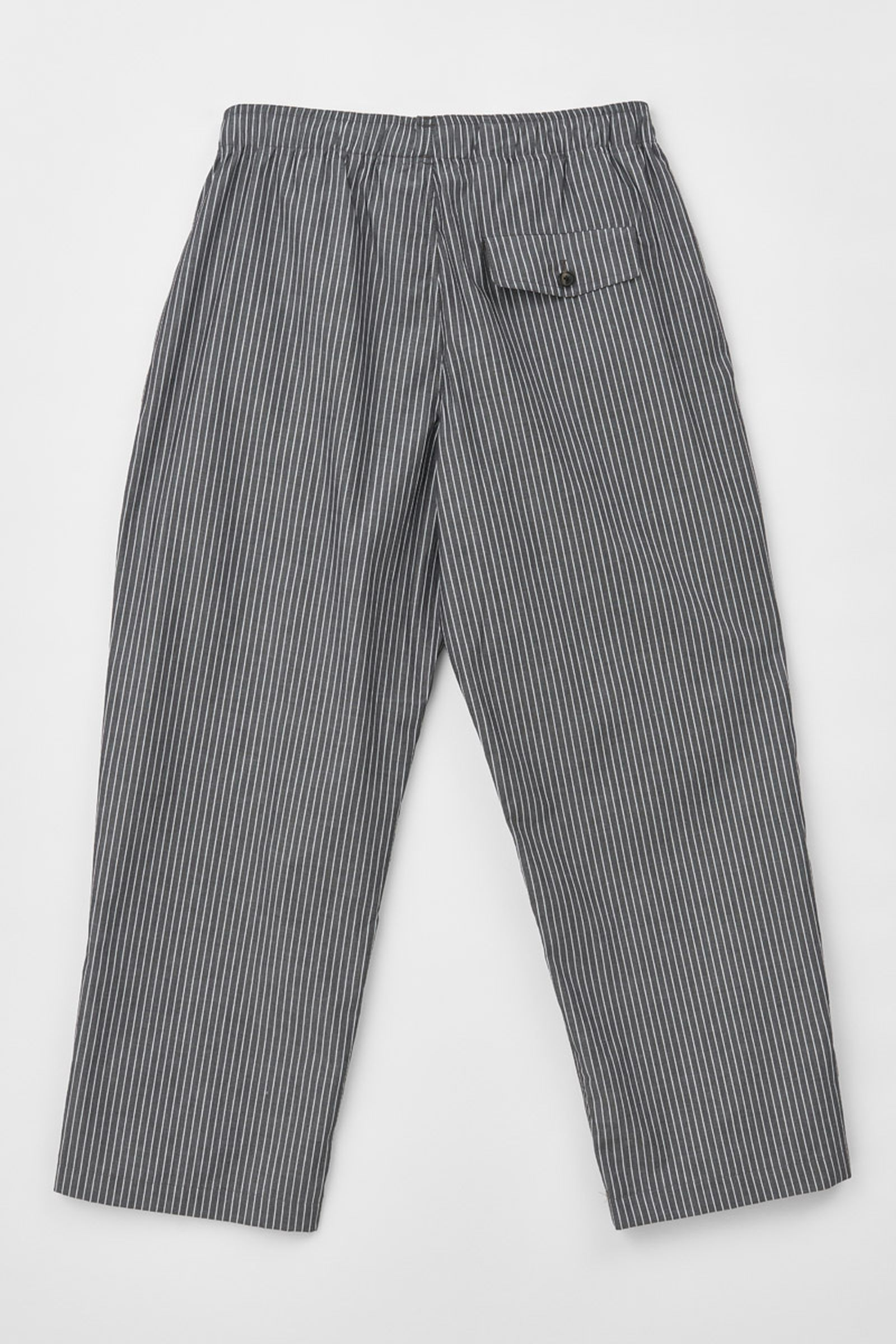 MS204R7_REDUCED TROUSERS_CHARCOAL STRIPE_BACK