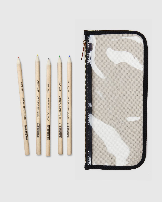 Colette Mon Amour x KAWS — Beige Pencil Case - Image 4